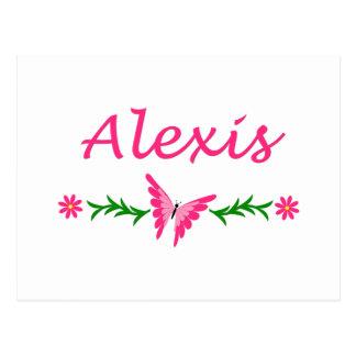 アレキシス(ピンクの蝶) ポストカード
