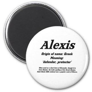 アレキシス。 一流の意味 マグネット
