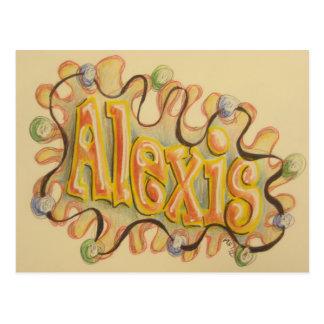 アレキシス-名刺 ポストカード