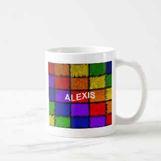 アレキシス(女性の名前) コーヒーマグカップ