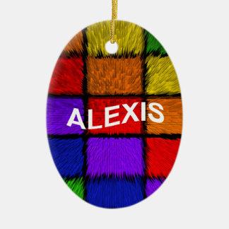 アレキシス(女性の名前) セラミックオーナメント