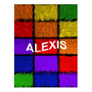 アレキシス(女性の名前) ポストカード