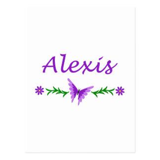 アレキシス(紫色の蝶) ポストカード
