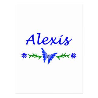 アレキシス(青い蝶) ポストカード