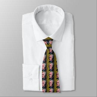 アレクサンダー・ハミルトンのポップアートのポートレート オリジナルネクタイ