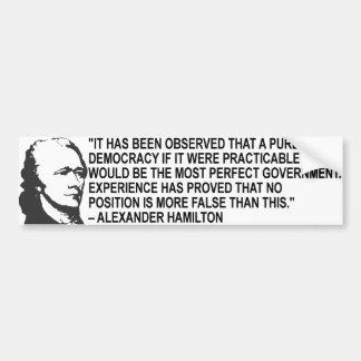 アレクサンダー・ハミルトンの引用文のバンパーステッカー バンパーステッカー