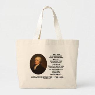アレクサンダー・ハミルトンの政府の情熱の抑制 ラージトートバッグ
