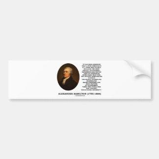 アレクサンダー・ハミルトンの民主主義の経験の専制政治 バンパーステッカー