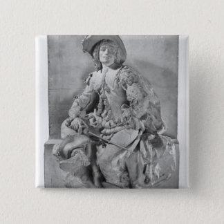 アレグサンダーデュマPereへの記念碑のためのモデル 5.1cm 正方形バッジ