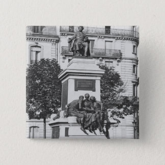 アレグサンダーデュマPere 1883年への記念碑 5.1cm 正方形バッジ