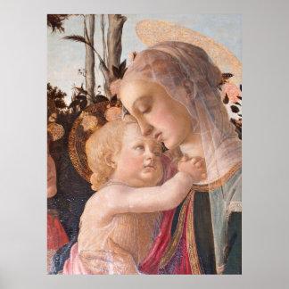 アレッサンドロBotticelliのヴァージンおよび子供 ポスター