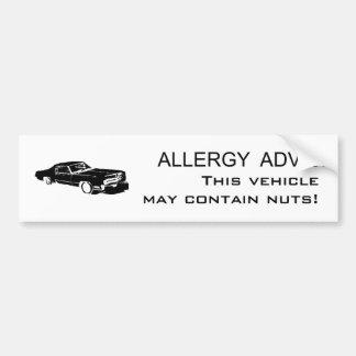 アレルギーのアドバイス バンパーステッカー