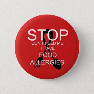 アレルギーの注意深いボタン 5.7CM 丸型バッジ