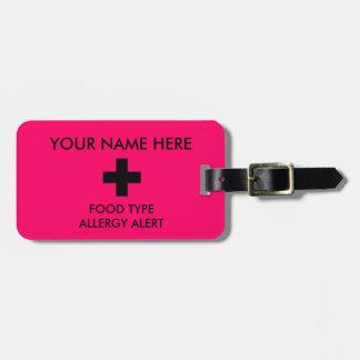 アレルギー注意深いIDのラベル ラゲッジタグ