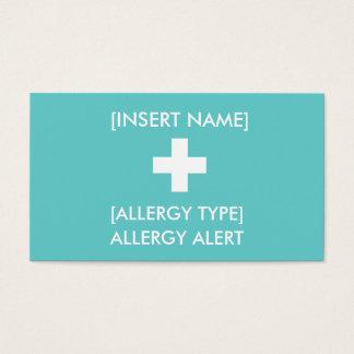 アレルギー注意深いID/ICEのカード 名刺