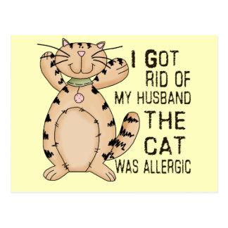 アレルギー猫 ポストカード