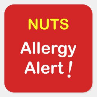 アレルギー警報-ナット スクエアシール