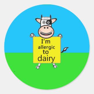 アレルギー警報(店のより多くのデザイン) ラウンドシール