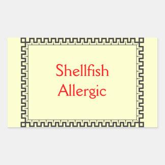 アレルギー貝 長方形シール