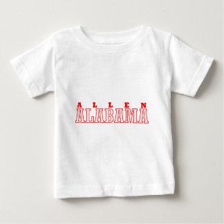 アレンのアラバマ都市デザイン ベビーTシャツ