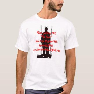 """アレンJeffrey NYC """"恐れ無し"""" Tシャツ"""