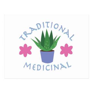 アロエの植物の伝統的な薬効がある ポストカード