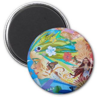 アロエ(コラージュ)の磁石 マグネット