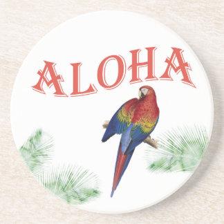 アロハオウムのルアウ(ハワイ式宴会)のコースター コースター