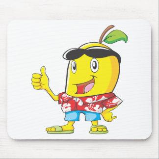 アロハシャツ2の親指のかわいいマンゴ! マウスパッド
