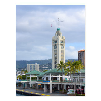 アロハタワー、ホノルル、ハワイ ポストカード