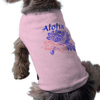 アロハハイビスカス犬のワイシャツ ペット服
