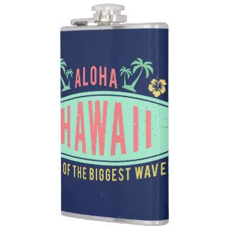 アロハハワイのサーファーのカスタムなモノグラムのフラスコ フラスク