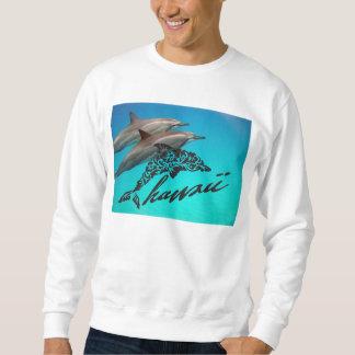 アロハハワイの島およびハワイのイルカ スウェットシャツ