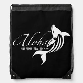 アロハハワイの島のクジラ ナップサック