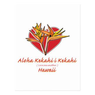 アロハハートHawaiilの極楽鳥 ポストカード