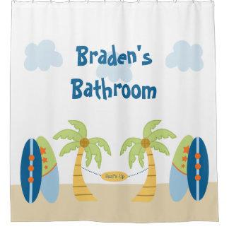 アロハビーチのサーファーの熱帯ベビーシャワーのカーテン シャワーカーテン