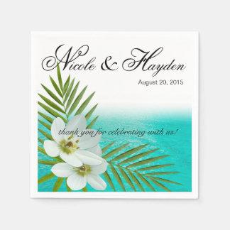 アロハビーチの熱帯花 スタンダードカクテルナプキン