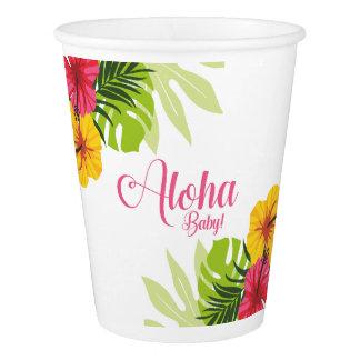 アロハベビーシャワー、ルアウ(ハワイ式宴会)のコップ 紙コップ