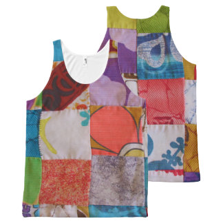 アロハワイシャツのキルトのデザインの全にプリントのタンクトップ オールオーバープリントタンクトップ