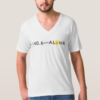 アロハ人の素晴らしいジャージーのV首Ltとの140.6 Tシャツ