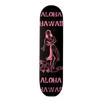 アロハ女の子 カスタムスケートボード