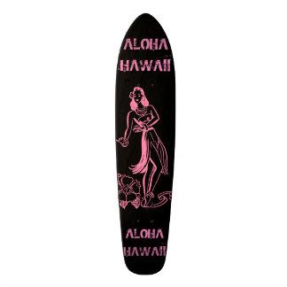 アロハ女の子 18.1CM オールドスクールスケートボードデッキ