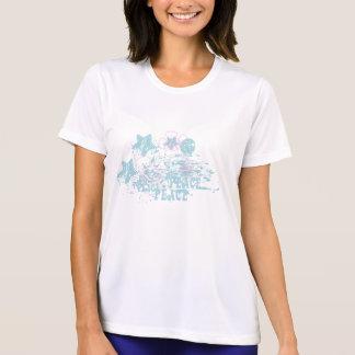 アロハ女性のスポーツTekの競争相手のTシャツ Tシャツ