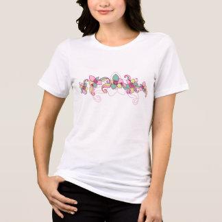 アロハ女性のBellaによってリラックスされる適合のジャージーのTシャツ Tシャツ