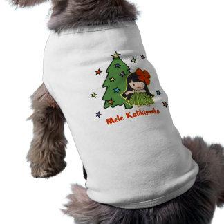 アロハ蜂蜜のクリスマスのハワイのフラ女の子 ペット服
