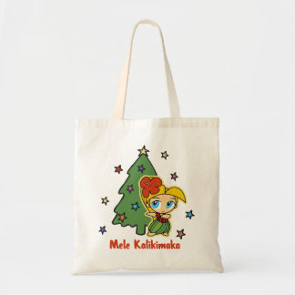アロハ蜂蜜のクリスマスのブロンドのフラ女の子 トートバッグ