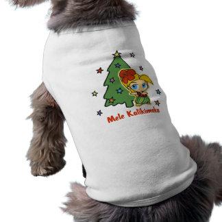 アロハ蜂蜜のクリスマスのブロンドのフラ女の子 ペット服