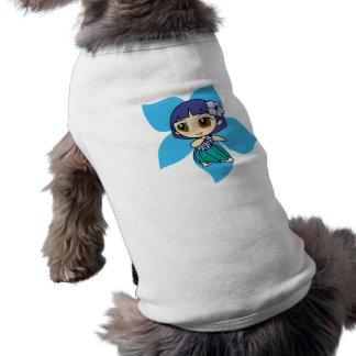アロハ蜂蜜のフラ女の子の小犬のティー ペット服
