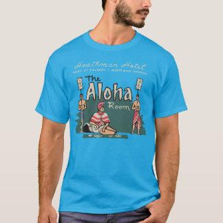 アロハ部屋(前部および背部) Tシャツ
