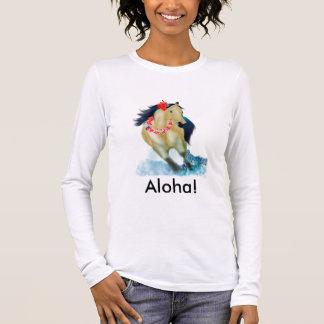 アロハ馬 長袖Tシャツ